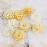 Prima - Lady Godivas Collection - Fabric Flower Embellishments - Nougat