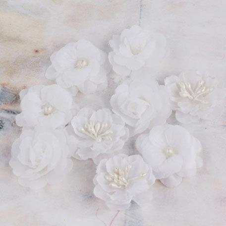 Prima - Lady Godivas Collection - Fabric Flower Embellishments - Coconut