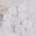 Prima - Lady Godivas Collection - Fabric Flower Embellishments - Coconut