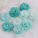 Prima - Lady Godivas Collection - Fabric Flower Embellishments - Raspberry Ice