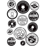 Prima - Cling Mounted Rubber Stamps - Spool Labels