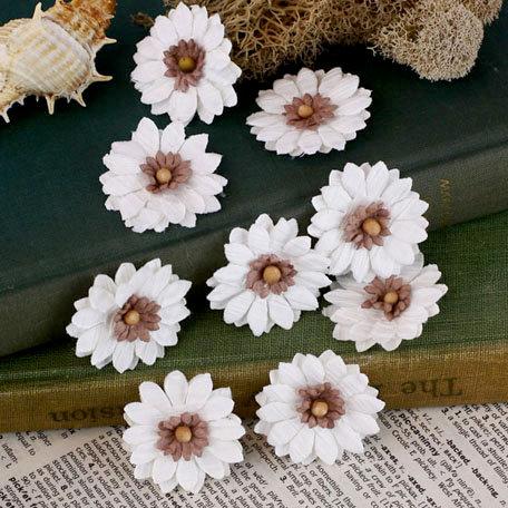 Prima - Tivona Collection - Flower Embellishments - Small - Daisy
