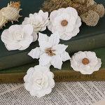 Prima - Tivona Collection - Flower Embellishments - Large - White Mix