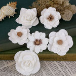 Prima - Tivona Collection - Flower Embellishments - Large - Frost Mix