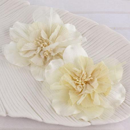 Prima - Namazzi Collection - Fabric Flower Embellishments - Ivory