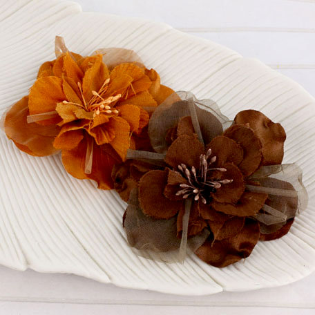 Prima - Namazzi Collection - Fabric Flower Embellishments - Pecan
