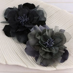 Prima - Namazzi Collection - Fabric Flower Embellishments - Charcoal