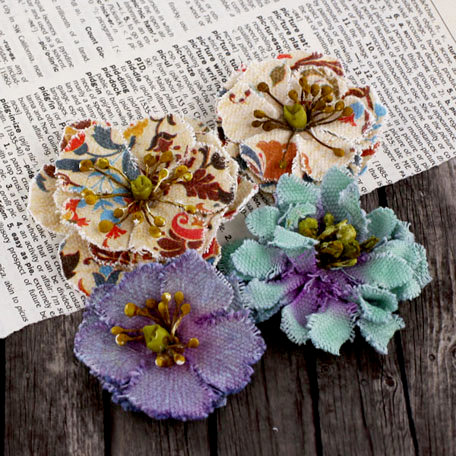 Prima - Fabrique Collection - Fabric Flower Embellishments - Lakeshore