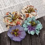 Prima - Fabrique Collection - Fabric Flower Embellishments - Lakeshore