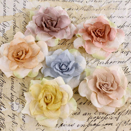 Prima - Pankita Rose Collection - Flower Embellishments - Winter Mix