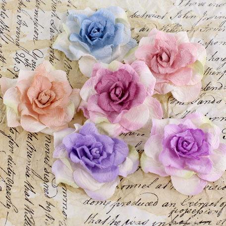 Prima - Pankita Rose Collection - Flower Embellishments - Summer Mix