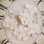 Prima - Parisa Collection - Flower Embellishments - Aspen White