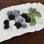 Prima - Laraine Collection - Flower Embellishments - Black Tie