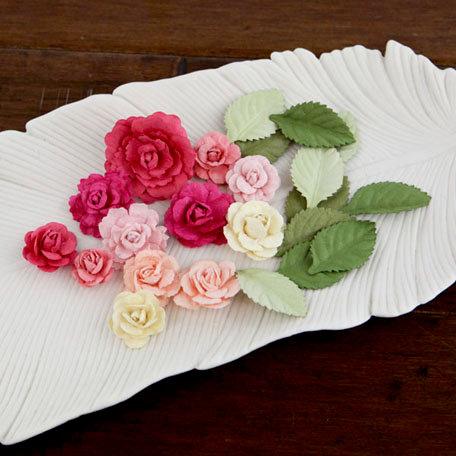Prima - Laraine Collection - Flower Embellishments - Sorbet