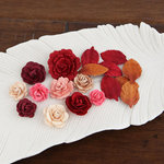 Prima - Laraine Collection - Flower Embellishments - Candy Apple