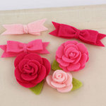 Prima - Marcelle Collection - Fabric Bow and Flower Embellishments - Starlette