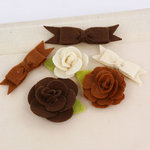 Prima - Marcelle Collection - Fabric Bow and Flower Embellishments - Orchestra