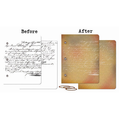 Prima - Mixed Media Album - Resist Canvas Book Covers - Two