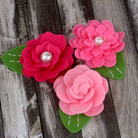 Prima - Hermosa Collection - Fabric Flower Embellishments - Rose