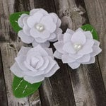 Prima - Hermosa Collection - Fabric Flower Embellishments - White