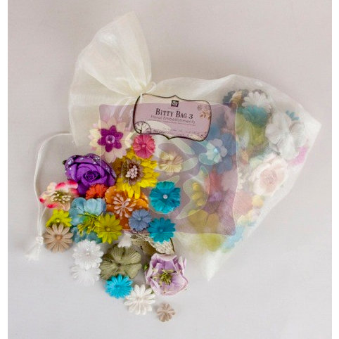 Prima - Flower Embellishments - Bitty Bag 3