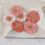 Prima - Primmers Collection - Fabric Flower Embellishments - Peach