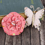 Prima - Soiree Collection - Butterfly and Flower Embellishments - Mauve