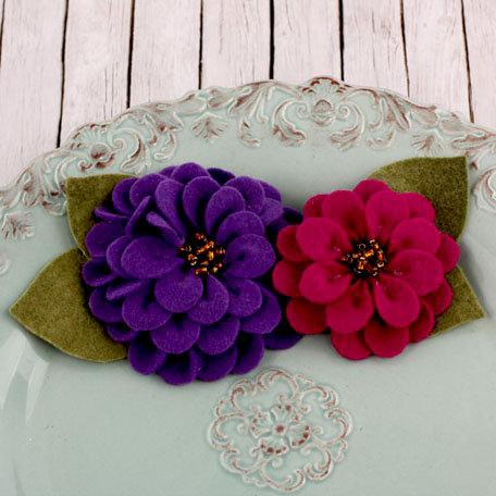 Prima - Cascade Collection - Fabric Flower Embellishments - Wine