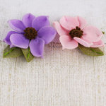 Prima - Sassy Collection - Fabric Flower Embellishments - Petunia