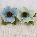 Prima - Sassy Collection - Fabric Flower Embellishments - Aqua