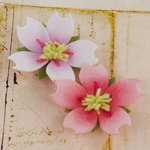 Prima - Merelle Collection - Fabric Flower Embellishments - Rose