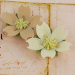 Prima - Merelle Collection - Fabric Flower Embellishments - Oatmeal