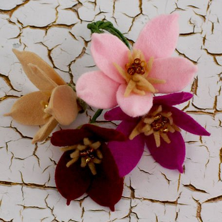 Prima - Cassie Collection - Fabric Flower Embellishments - Primrose