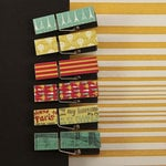 Prima - Welcome to Paris Collection - Canvas Covered Wood Clips