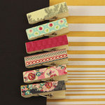 Prima - Rosarian Collection - Canvas Covered Wood Clips