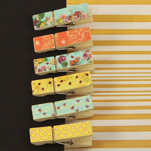 Prima - Zephyr Collection - Canvas Covered Wood Clips