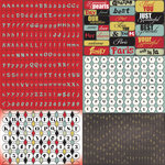 Prima - Welcome to Paris Collection - Cardstock Stickers - Tiny Alphabets