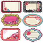 Prima - Rosarian Collection - Journaling Notecards Set