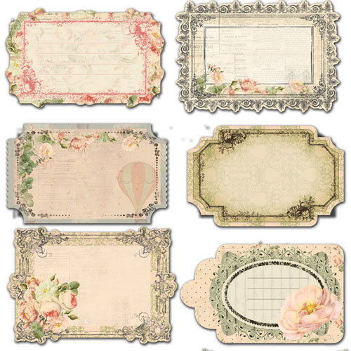 Prima - Tea-Thyme Collection - Journaling Notecards Set
