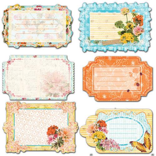 Prima - Zephyr Collection - Journaling Notecards Set