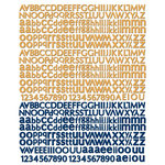 Prima - Craftsman Collection - Textured Stickers - Alphabet
