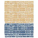 Prima - Craftsman Collection - Textured Stickers - Alphabet