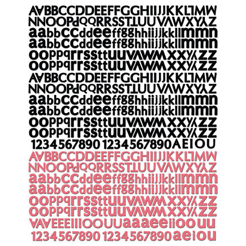 Prima - Romance Novel Collection - Textured Stickers - Alphabet
