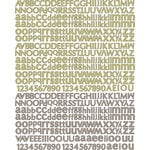 Prima - Tea-Thyme Collection - Textured Stickers - Alphabet