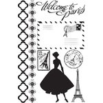 Prima - Welcome to Paris Collection - Cling Mounted Rubber Stamps