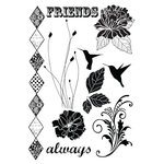 Prima - Rondelle Collection - Cling Mounted Rubber Stamps