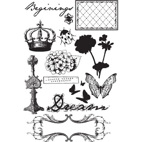 Prima - Zephyr Collection - Cling Mounted Rubber Stamps