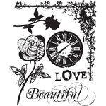 Prima - Tea-Thyme Collection - Clear Acrylic Stamps - Mix 2