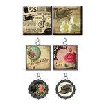 Prima - Romance Novel Collection - Vintage Trinkets - Art Tiles and Metal Embellishments