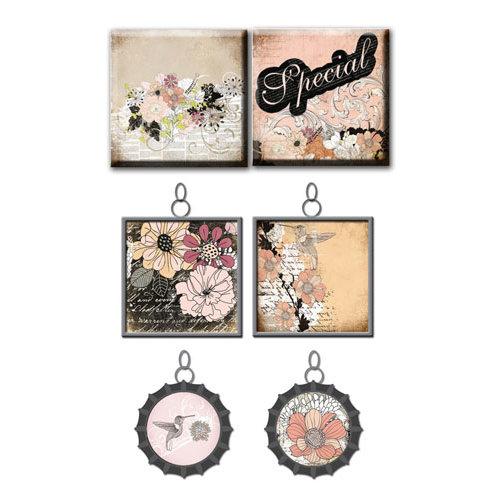 Prima - Rondelle Collection - Vintage Trinkets - Art Tiles and Metal Embellishments